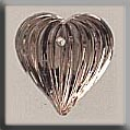 12067 - Medium Fluted Heart Rosaline 12/11mm - 1 per pkg